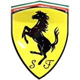 Ferrari original Aufkleber Wappen 3D Gel 7,5x10cm