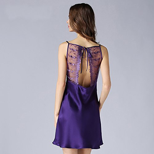 LSHARON -  Camicia da notte  - Donna Purple