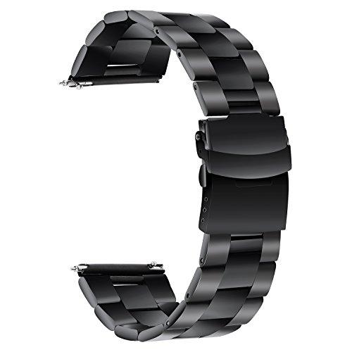 TRUMiRR Cinturino in Acciaio Inossidabile per la Cintura di Sicurezza in Acciaio Inossidabile 22mm per Samsung Gear S3 Classic...