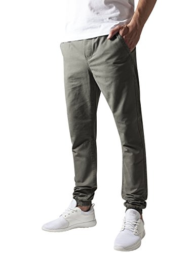 Urban Classics Washed Canvas Jogging Pants, Pantalon Homme Vert - Grün (Olive 176)