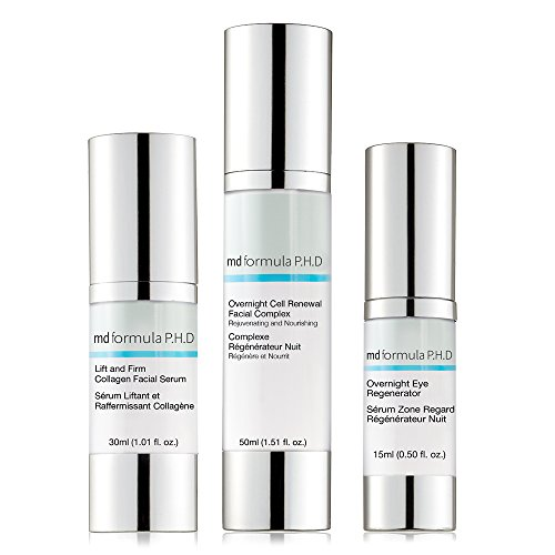 MD Formula P.H.D Lift and Firm Collagen Facial Serum, Overnight Eye Regenerator, Overnight Cell...