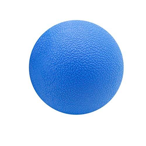 Entspannen Handcreme (WEIWEITOE Fitness Entlasten Gym Single Ball Massage Ball Training Faszien Hockey Ball 6,3 cm Massage Fitness Bälle Entspannen Muskel Bälle, blau,)
