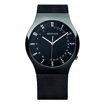 Bering Time Radio Controlled - Reloj de cuarzo para hombre, con correa de acero inoxidable, color negro de Bering Time