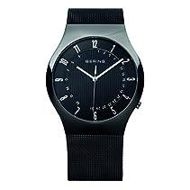 Bering Time Herren-Armbanduhr XL Radio Controlled Analog Quarz Edelstahl 51840-222
