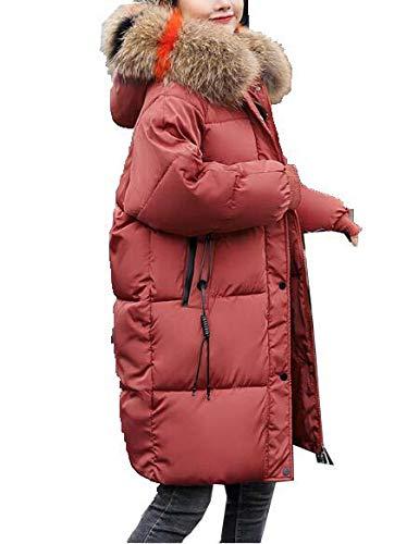 Huaishu Veste d'hiver Femme en Duvet Nouvelle coréenne Longue Veste en Coton lâche