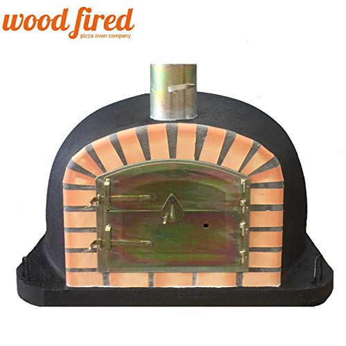 Maxi-Deluxe Extra Wood Fired Pizza Oven In Black, 90cm
