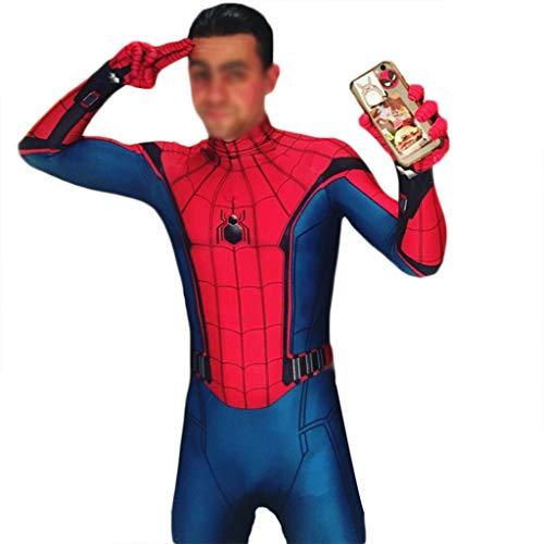 Mann Spiderman Kostüm - QWEASZER Spider-Man: Homecoming, Spiderman Kostüm Anime Zentai Kostüm Erwachsene Männer Film Cosplay Kostüme Kostüm Overall Onesies,Spiderman-150~155cm