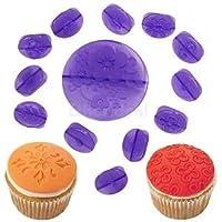 Alcoa Prime 14pcs Cupcake Mold Cake Decorating Bake Gum Paste Mould Purple 2.5cm+6.6cm