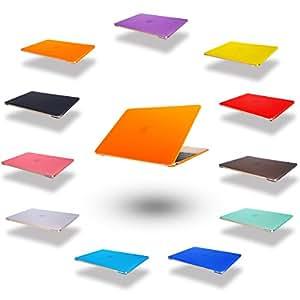Elegante e leggera protezione ultra sottile Custodia cover coperchio protettivo duro caso notebook borsa guscio duro Custodia per Apple MacBook Air 13,3 pollici (numero di modello: A1369/A1466/760) orange