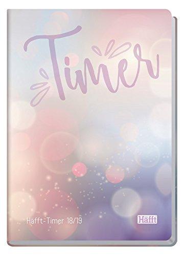 Häfft-Timer A5 2018/2019 [Bubbles] Fadenheftung, Hardcover, runde Ecken, Schülerkalender/Studentenkalender/Ausbildungskalender/Semesterplaner, August 2018 - September 2019