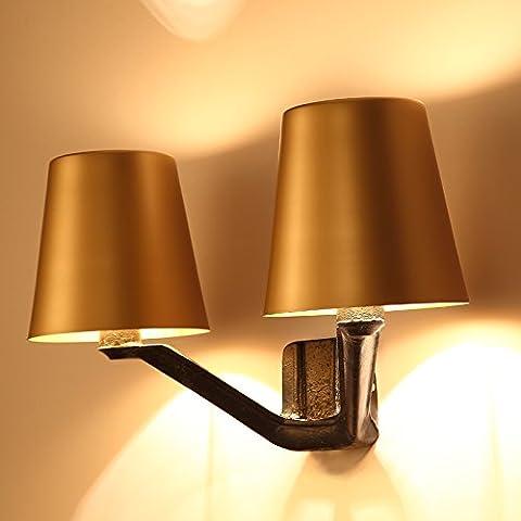 Doppia parete lampada da comodino camera da letto corridoio ingresso creativo lampada da parete