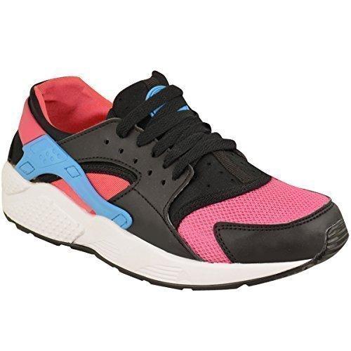 Damen Damen Turnschuhe Sport Laufen Fitnessstudio Fitness Exercise Modische Schuhe Größe Schwarz Kunstleder / Pink / Blau