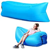KPS Inflatable Nylon Fabric Air Lazy Sofa for Outdoor Camping and Beach,Polyester Fabric Air Lazy Sofa for Outdoor…