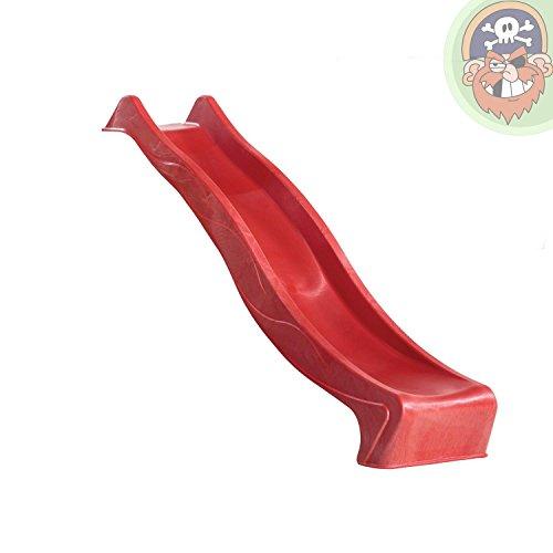 Gartenpirat Wellenrutsche 230 cm rot für Podest 120 cm (+/-5 cm) TÜV