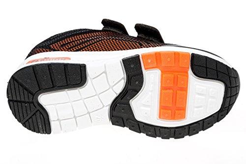 gibra, Sneaker bambini Nero (Nero/Arancione)