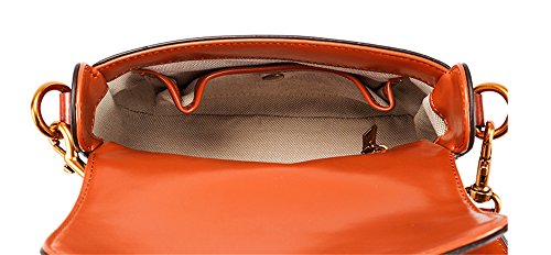Xinmaoyuan Sacs à main pour femme Sacs à main en cuir sacs à main Sac à selle Retro Canvas Shoulder Messenger sac carré petit Brown