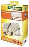 Windhager Sonnensegel für Seilspanntechnik Sonnenschutz Segel 420 x 140 cm, ideal für Pergola oder Wintergarten, UNIWEISS 10872