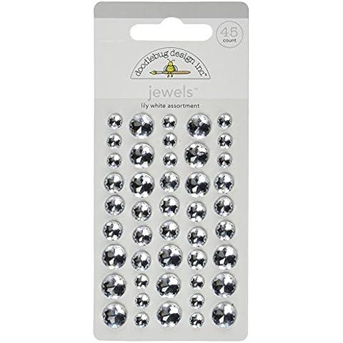 Adesivo doodlebug gioielli 45/Pkg-giglio bianco