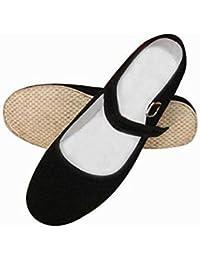 Mujer de artes marciales tradicionales Kung Fu Zapatillas zapatos de hecho a mano, mujer, negro, 3 UK