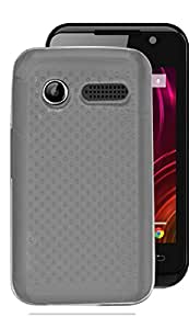 ECellstreet Exclusive Dotted Transparent Soft Back Case Cover Back Cover For Lava Iris 349i - White