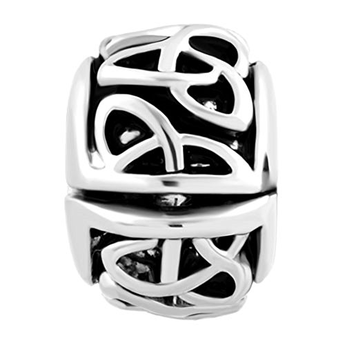 Uniqueen Irish Celtic Swirl Flower Clip Lock Stopper Spacers Charms Beads fit Bracelet GgsA88c6v
