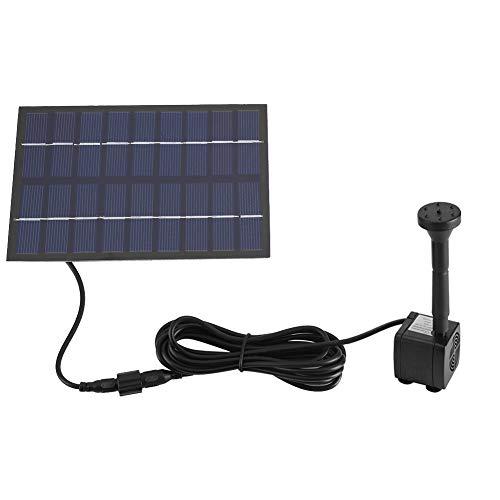Zerodis Solar Springbrunnen Pump Set Garten Solar Panel für Gartenteich Springbrunnen Vogelbad