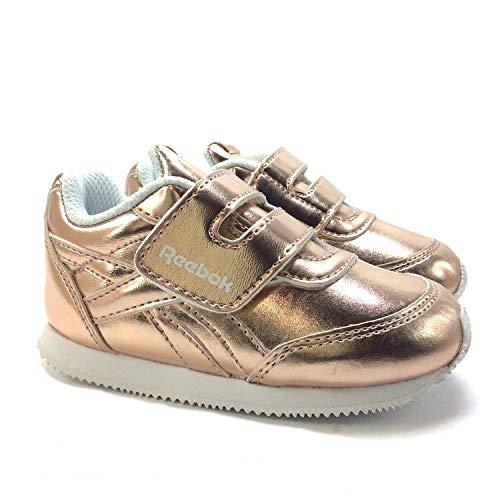 Kleinkind Infant White Gold Schuhe (Reebok Royal Classic Jogger Infants rose gold metallic/white, Größen:22)