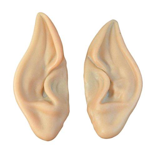 (OdeJoy 1 Paar Halloween Fälschung Ohr Cosplay Halloween Kostüm Ohr Tipps Kostüm Elf Ears Latex Fälschungs Ohr Partei Cosplay Prop Ohren Maske Kostüm Langes Ohr Maskerade (Fleisch Farbe, 1 PC))