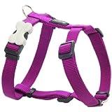 Red Dingo Plain Dog Harness, M, 18 mm/ 42 - 57 cm, 35 - 53 cm Neck Size, Classic Purple