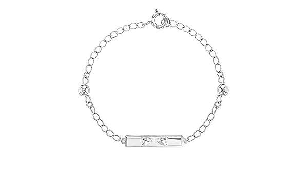 Sterling Silver Heart Childs Bracelet