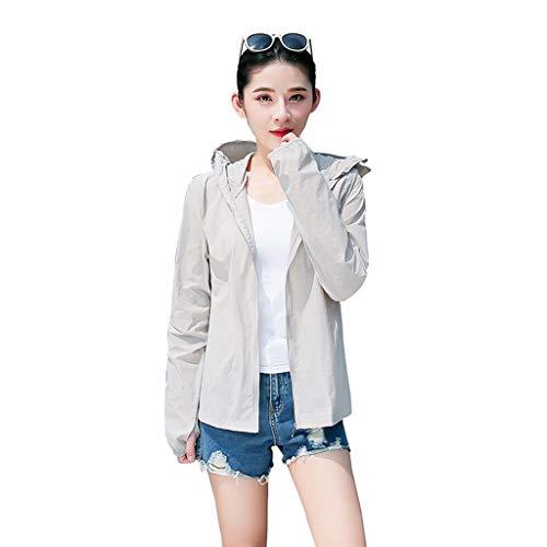 LOLIANNI Frauen Sonnenschutz Jacke Damen UV-Schutz Sommer Outdoor Tops Sonnenschutz Kleidung Bluse Poly Turban