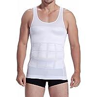 YiZYiF Camiseta Interior Hombre Faja Abdominal Entallada Reductora Moldeadora Quemagrasas Adelgazante