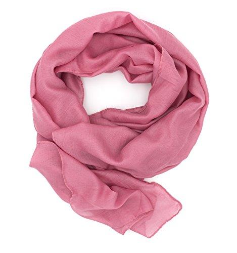 Halstuch Tuch aus Chiffon für Frühling Sommer Ganzjährig (Hot Pink) ()