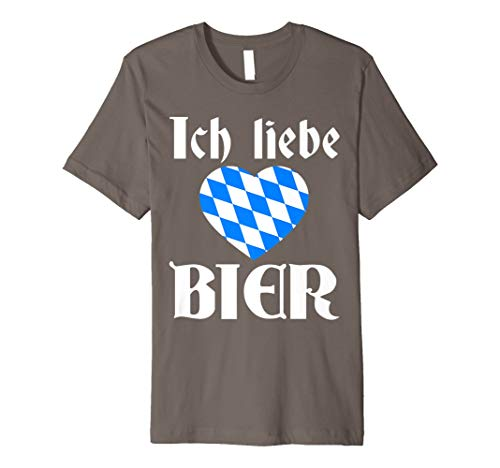 Oktoberfest Ich liebe Bier T-Shirt - Bier Liebhaber Shirt