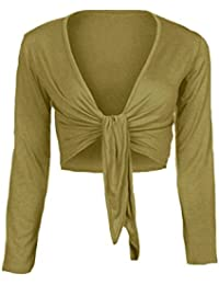 Loafers Donna Manica Lunga Tie Up Bolero Coprispalle Cardigan Top