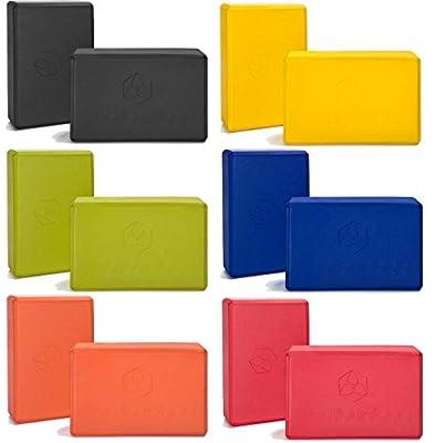 2x Yogablock »ArunaÂ« / Sehr leichter Hartschaum Yoga-Block, zur Unterstützung spezieller Yoga-Übungen. In vielen Trend-Farben erhältlich.