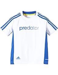 Adidas Predator niños camiseta de entrenamiento, Infantil, color Blanco - White - blue/white, tamaño 176 (UE)