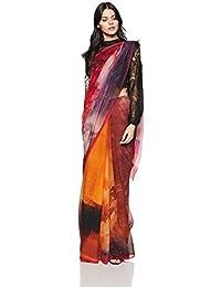Satya Paul Chiffon Saree With Blouse piece