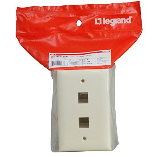 On-Q/Legrand WP3402LA10 2 Port Contractor Single Gang Wall Plate (Pack of 10), Light Almond by - Light Wall Plate Almond