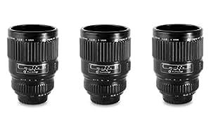 Thumbs Up LENSSHOT3 Espressoglas Kameraobjektiv, 3-er Pack