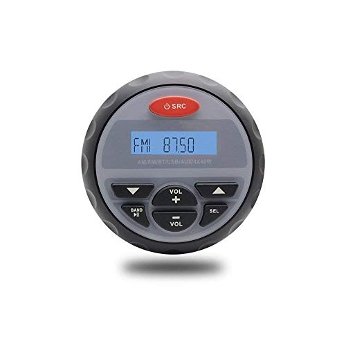 10,2 cm Zoll Wasserdicht Marine Bluetooth Radio FM AM Stereo Wasserdicht Boot Stereo Audio MP3 Player für Spa UTV ATV Auto Motorrad