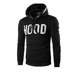 Men Jackets Longra® Men Cotton blended Hooded ! Warm Sweatshirt Coat Outwear Letter Print ! by Longra®