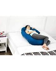Amazon Brand - Solimo Maternity Pillow, Medium, Deep Teal