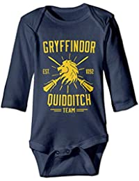 Gryffindor Quidditch Team Logo Harry Potter Unisex Long Sleeve Baby Onesies Clothes -0-3 Months