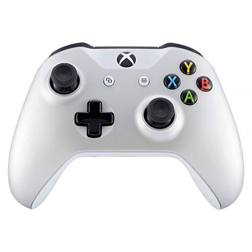 eXtremeRate Case Obere Schutzhülle Hülle Cover Oberschale Skin Schale Gehäuse Shell für Xbox One S/Xbox One X Controller(Silber)