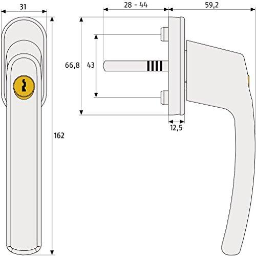 ABUS Fenstergriff abschließbar FG200, weiß, 44259 - 3