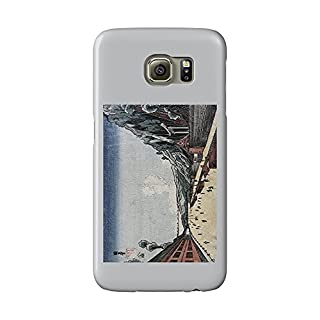 Mount Atago at Shiba Japanese Wood-Cut Print (Galaxy S6 Cell Phone Case, Slim Barely There)