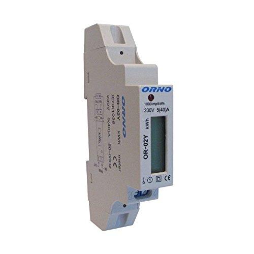 Eléctrico-Contador de corriente alterna corriente vatímetro Digital 230V 5(40) a