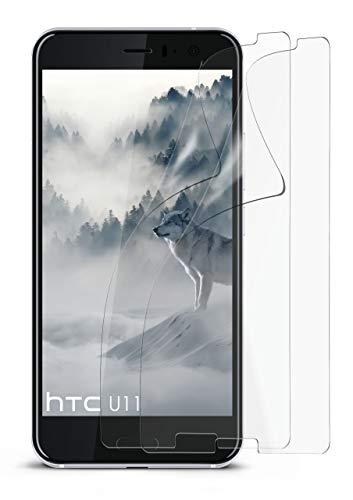 2X HTC U11   Schutzfolie Matt Bildschirm Schutz [Anti-Reflex] Screen Protector Fingerprint Handy-Folie Matte Bildschirmschutz-Folie für HTC U11 Bildschirmfolie