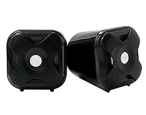 Enter E-S285 Wooden USB Speaker(Black)